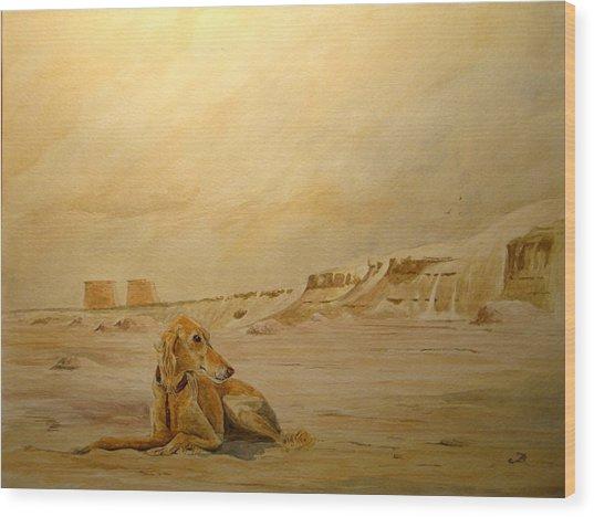Saluky At Luxor Wood Print