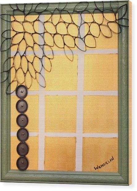 Salvaged Paper Or Plastic Tree 01 Wood Print by Wendelin Dunlap