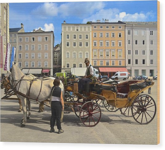 Salzburg Cabbie Wood Print
