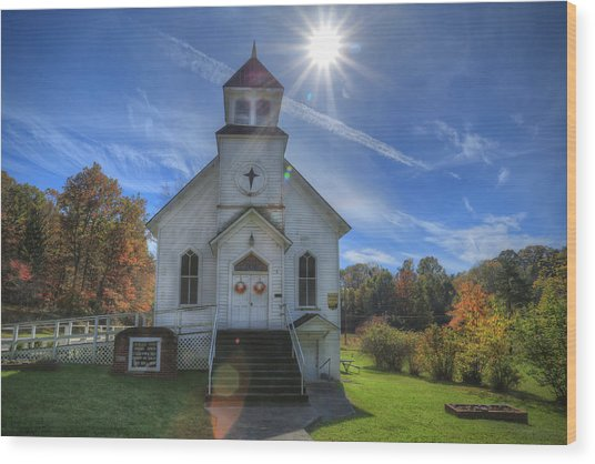 Sam Black Church Wood Print