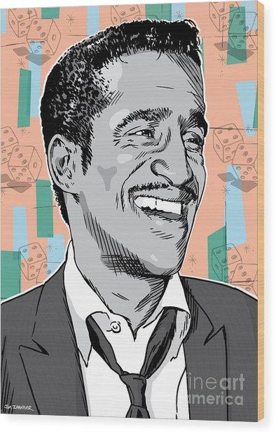 Sammy Davis Jr Pop Art Wood Print