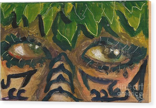 Samoan Eyes Wood Print