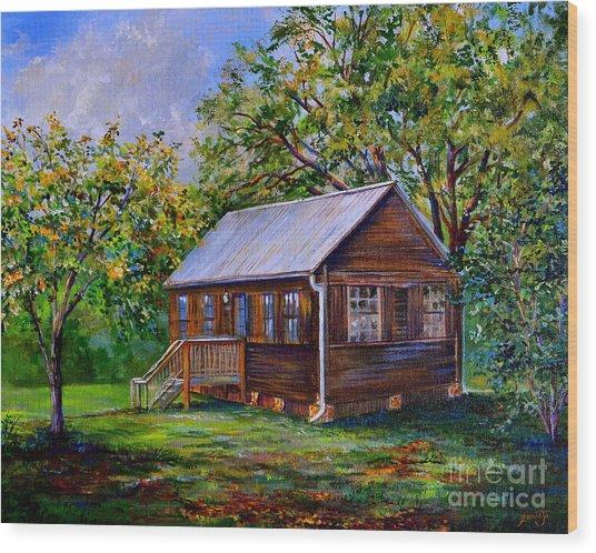 Sams Cabin Wood Print