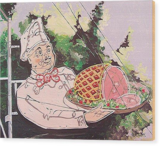 Sam's Hof Brau Wood Print