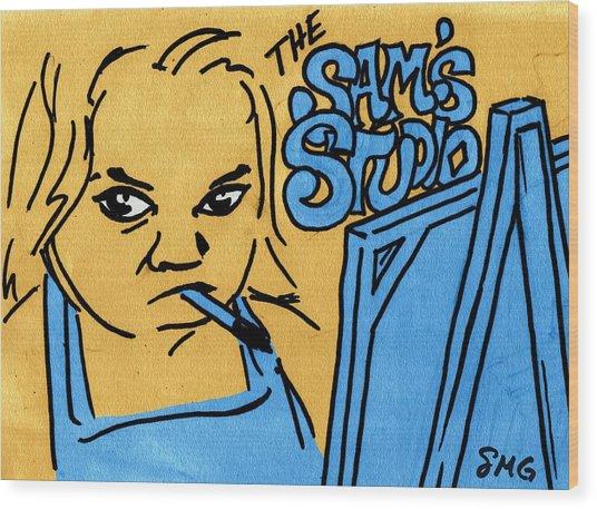 Sam's Studio Wood Print