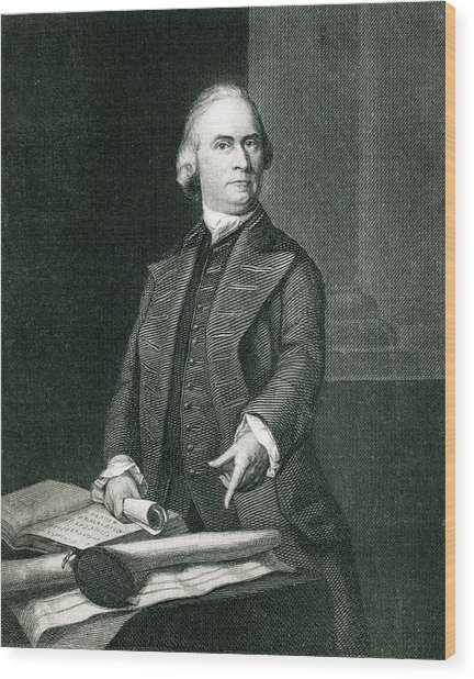Samuel Adams  American Revolutionary Wood Print by Mary Evans Picture Library