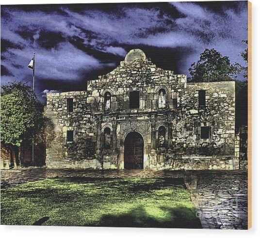 San Antonio E Wood Print
