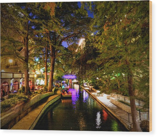 Wood Print featuring the photograph San Antonio Hdr 001 by Lance Vaughn