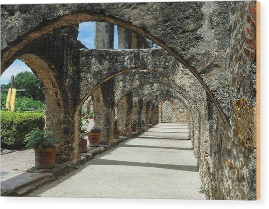 San Antonio Mission Arches Wood Print