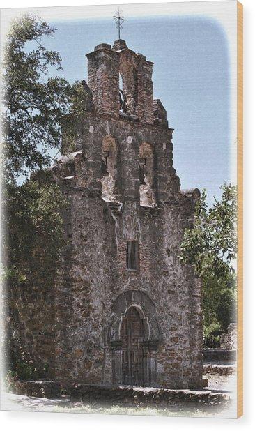 San Antonio Mission Wood Print