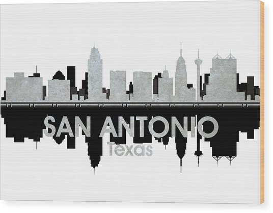 San Antonio Tx 4 Wood Print
