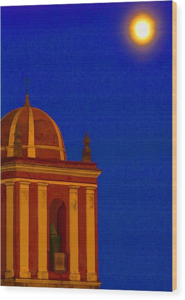 San Bartolome Moonlight Wood Print by Robin Graham
