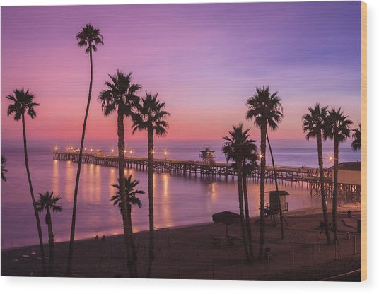 San Clemente Sunset Meditation Wood Print