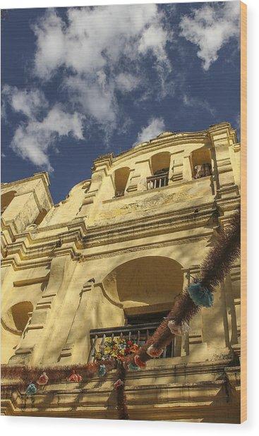 San Cristobal Church Wood Print by Martha Roque