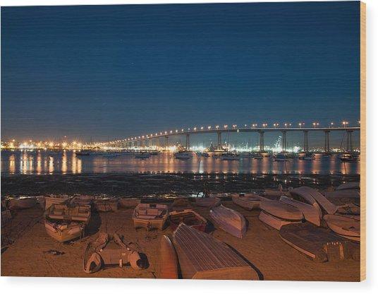 San Diego Bridge  Wood Print