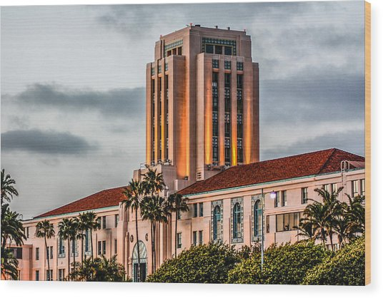San Diego County Administration Center Wood Print