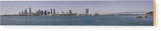 San Diego Panorama Wood Print