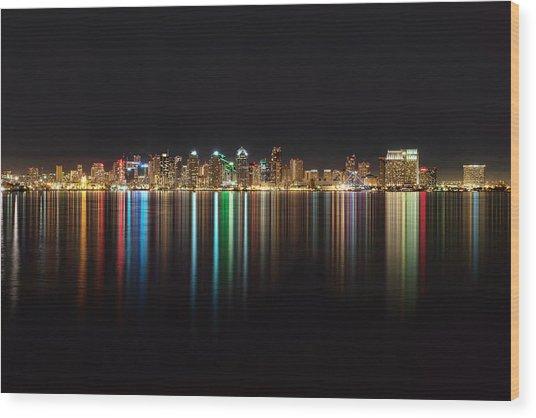 San Diego Reflections Wood Print