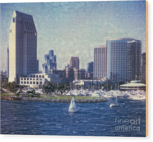 San Diego Sailing Wood Print