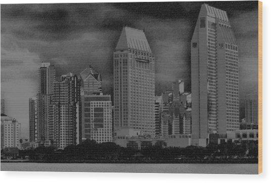 San Diego Storm Wood Print