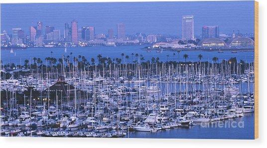 San Diego Twilight Wood Print