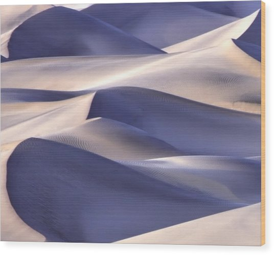 Wood Print featuring the photograph San Dunes Abstract by Gigi Ebert