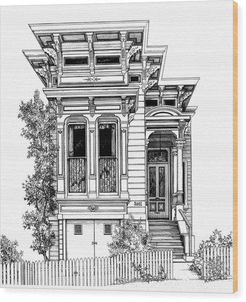 San Fracisco Victorian2 Wood Print