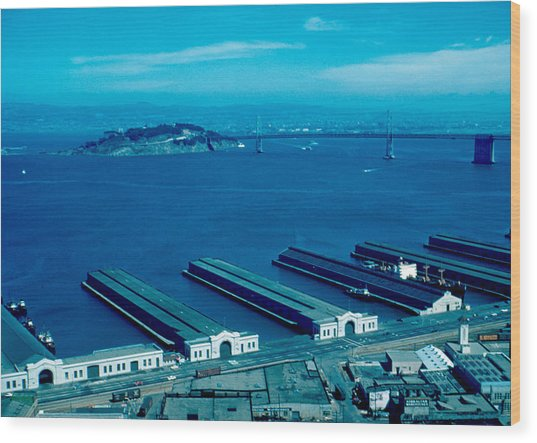 San Francisco 11 1955 Wood Print by Cumberland Warden