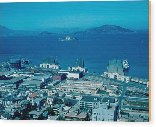 San Francisco 13 1955 Wood Print by Cumberland Warden