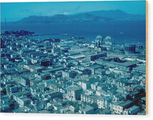 San Francisco 14 1955 Wood Print by Cumberland Warden