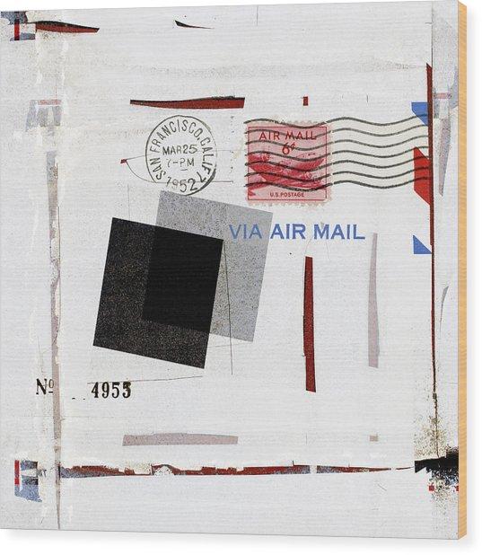 San Francisco 1952 Air Mail Square Wood Print