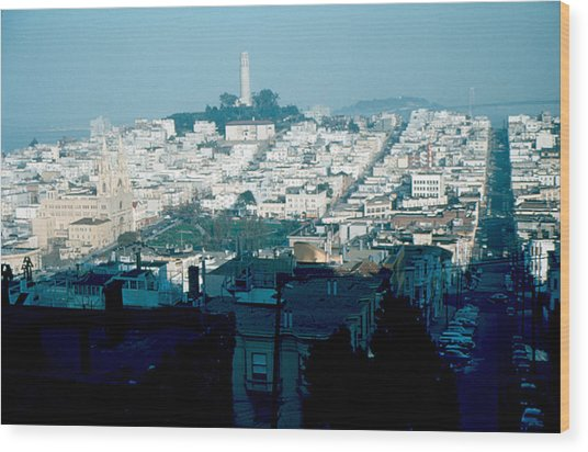 San Francisco 1956 Wood Print by Cumberland Warden