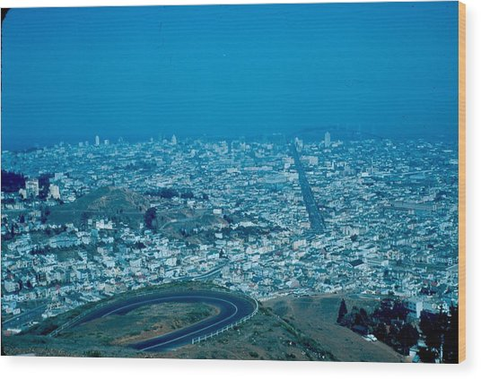 San Francisco 2 1955 Wood Print by Cumberland Warden