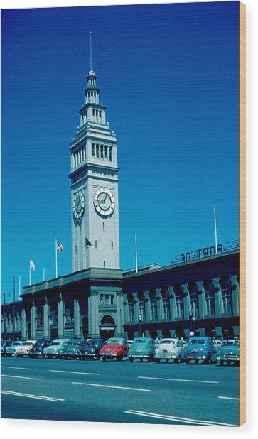 San Francisco 5 1955 Wood Print by Cumberland Warden