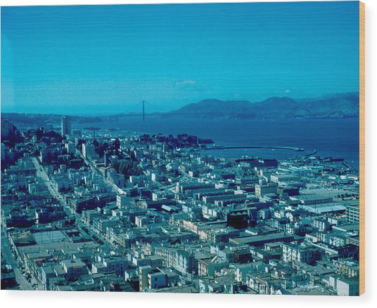 San Francisco 6 1955 Wood Print by Cumberland Warden