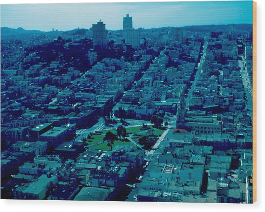 San Francisco 7 1955 Wood Print by Cumberland Warden