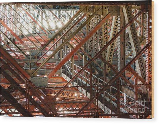 San Francisco Bay Bridge 1.6994 Wood Print by Stephen Parker
