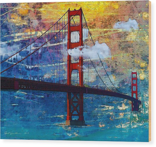San Francisco Bridge Wood Print