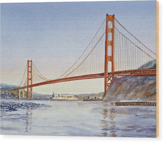 San Francisco California Golden Gate Bridge Wood Print