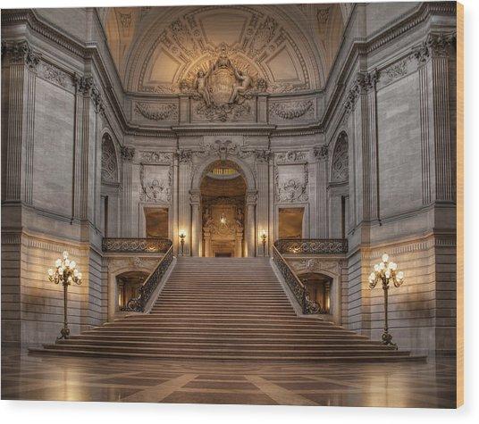 San Francisco City Hall Wood Print