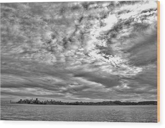 San Francisco Clouds Wood Print