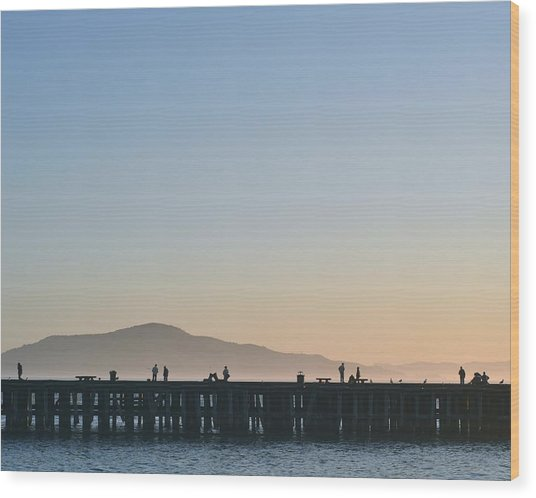 San Francisco Fishing Dock Wood Print