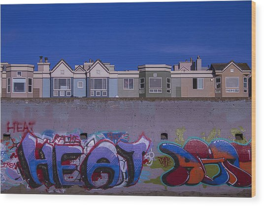San Francisco Graffiti Wood Print