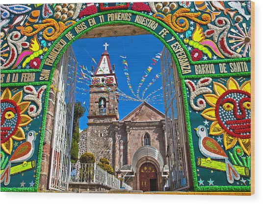 San Francisco Mexico Wood Print