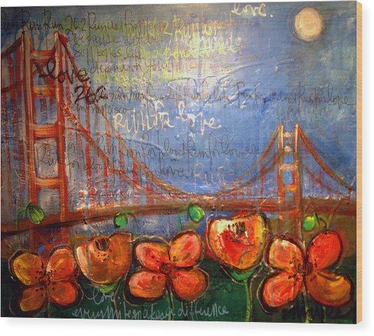 San Francisco Poppies For Lls Wood Print