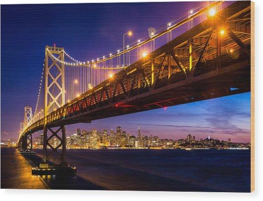San Francisco - Under The Bay Bridge Wood Print