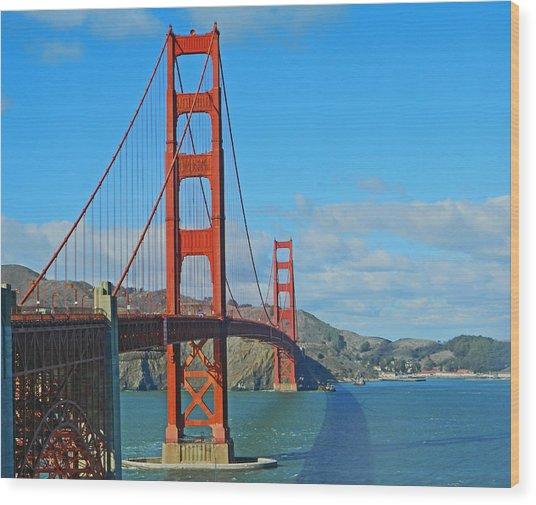San Francisco's Golden Gate Bridge Wood Print
