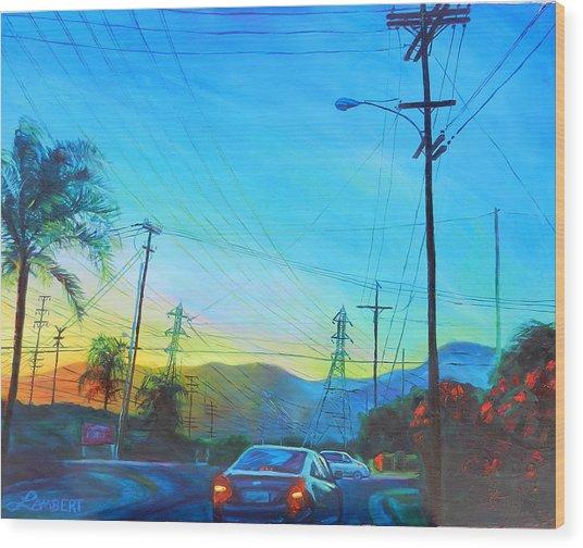 San Gabriel Rush Wood Print