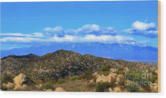 San Gorgonio Snow Cap Wood Print