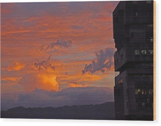 San Jose Sunset Wood Print